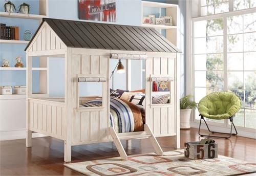 Spring Cottage Acme Weathered White/Wash Gray Full Bed,37655F acme
