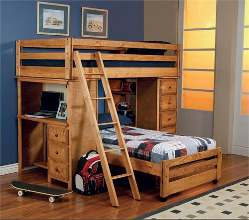 Twin/Twin Bunk Bed With Desk,item 460141 by coaster