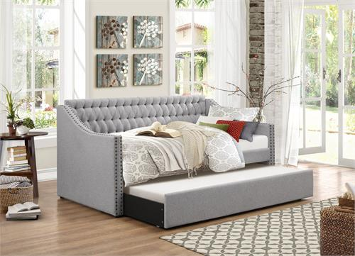 Day Bed Grey Tulney Collection,4966 homelegance,day bed,daybed