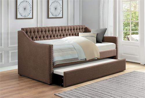 Brown Day Bed Tulney Collection,4966br homelegance,4966 daybed