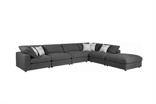 Serene Charcoal Modular Sectional Coaster 551324