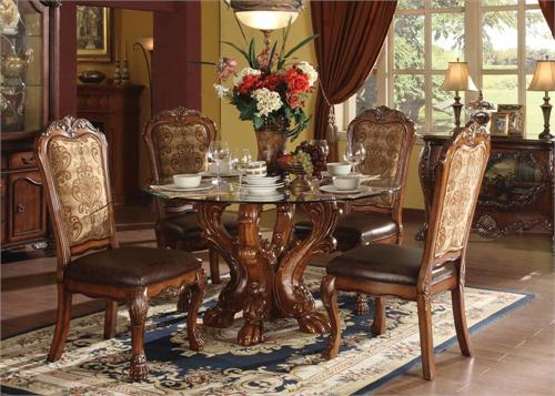 Dresden Cherry Oak Dining Set,60010 by acme,60012 by acme