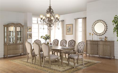 Chelmsford Collection Antique Taupe Dining Set by Acme 66050