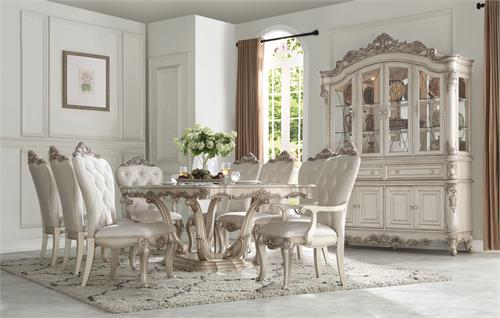Gorsedd Collection Antique White Finish Dining Set by Acme