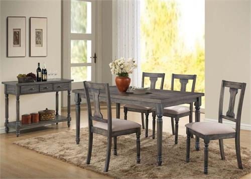 Wallace Dining Set,71435 acme,71437 acme,71439 acme,weathered table