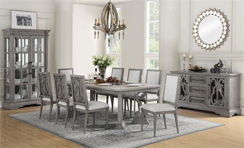 Artesia Collection Salvaged Natural Finish Dining Set Acme