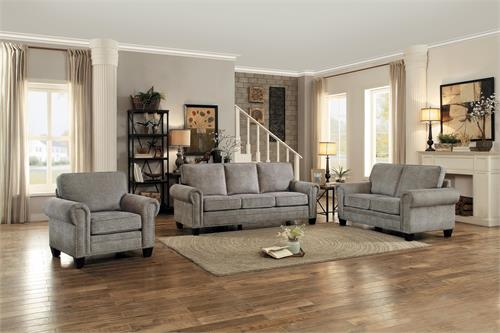 Cornelia Sand Fabric Sofa Set Collection,8216SD homelegance
