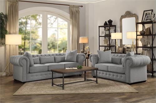 8427gy Homelegance Savonburg Grey Sofa Set Collection