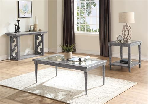 Artesia Collection Salvaged Natural Finish Occasional Set