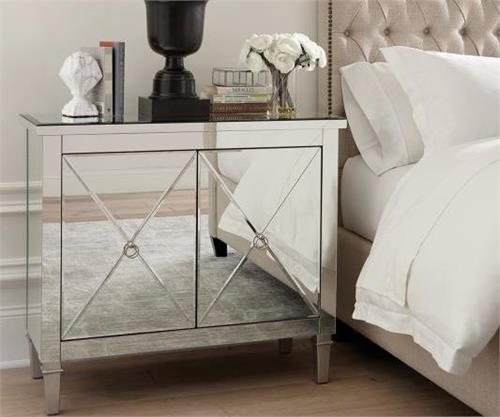 Mirrored Nightstand - Accent Cabinet 950742 Coaster,950742 coaster