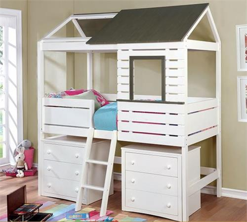 Twin House Bed,cm7137 furniture of america