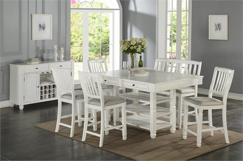 Counter Height Dining Set Poundex F2466,f2466,f2466 poundex, f1769 poundex, f6014 poundex
