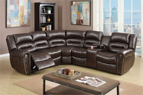 Reclining Sectional Poundex F6744,f6744 poundex