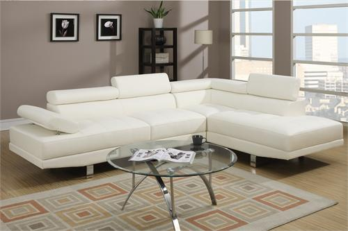 Cream Sectional Sofa Poundex F7310