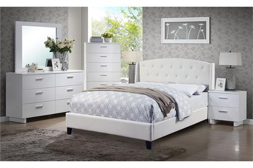 Arris White Bedroom Collection, f9296 poundexd,f9296q poundex