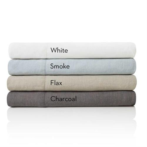 French Linen Bed Sheet Set by Malouf  Colors
