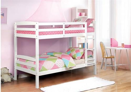 Elaine White Twin/Twin Bunk Bed,cm-bk634 bunk bed,cm-bk634wh bunk bed,cm-bk634 furniture of america