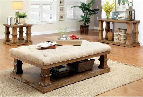 Granard Coffee Table with Cushion Top,cm4457,cm4457f-c,cm4457f-c furniture of america