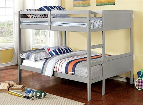 Annette Grey Bunk Bed ,cm-bk619gy furniture of america