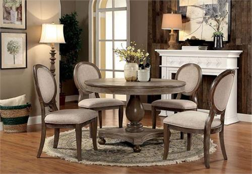 Kathryn Round Dining Set CM3872,cm3872rt table,cm3872 furniture of america