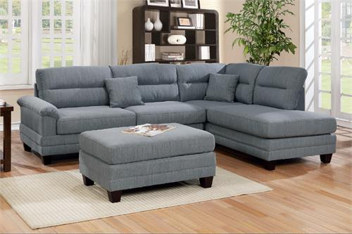F6585 Poundex 3 Piece Sectional Sofa