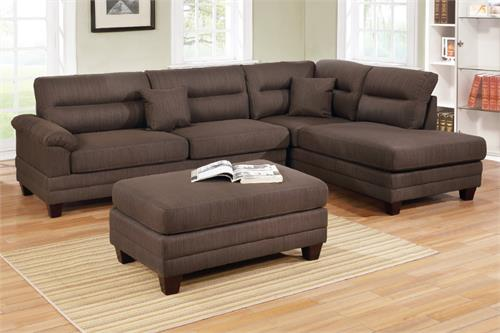 F6586 Poundex 3 Piece Sectional Sofa
