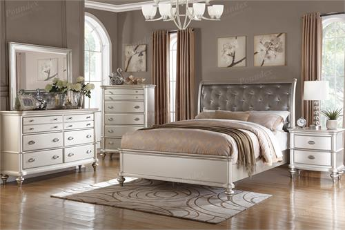 Grace Antique Silver Bedroom Collection,f9317 poundex,f4392 poundex,f4390 poudex