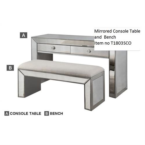 Mirrored Console Table and Bench ,t1803 best master