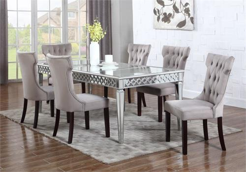 Mirrored Dining Set T1840,t1840 bestmaster, t1840 dining table