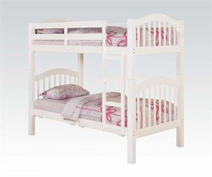 Heartland White Twin/Twin Bunk Bed,02354 acme