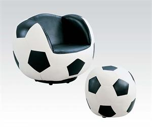 Chair And Ottoman Soccer Style