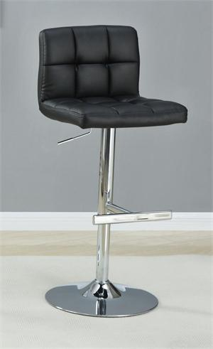 Black Adjustable Bar Stool item #102554
