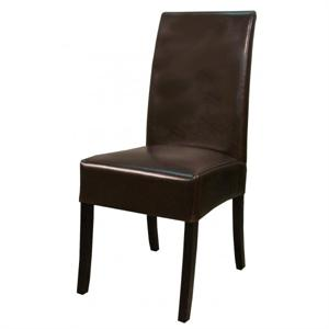 Valencia Leather Side Chair Brown Color Item 108239B-01