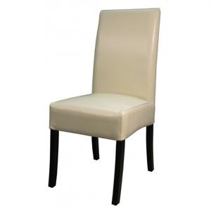 Valencia Leather Side Chair Beige Color Item 108239B-2050