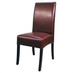 Valencia Leather Side Chair Saddle Brown Color Item 108239B-208