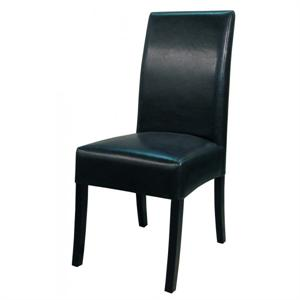 Valencia Leather Side Chair Black Color Item 108239B-23