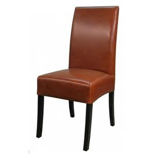 Valencia Leather Side Chair Cognac Color Item 108239B-33