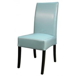Valencia Leather Side Chair Blue Color Item 108239B-3632