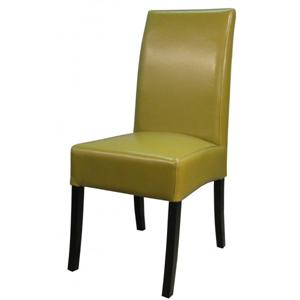 Valencia Leather Side Chair Wasabi Color Item 108239B-8231