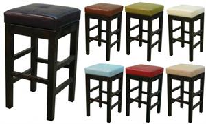 Valencia Square Leather Counter Stool by New Pacific Direct item #108627