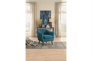 Blue Accent Chair,1192BL homelegance