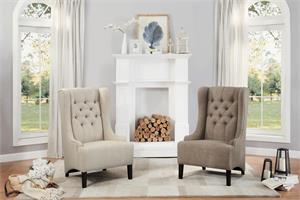 Accent Chair in Beige and Brown,1197F2S homelegance,1197F1S homelegance