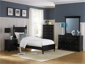 Youth Bedroom Set - Black Morelle Collection,1356BK homelegance