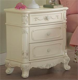 Nightstand Cinderella Collection,1386-4 homelegance,ecru finish