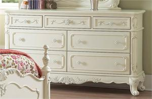 Dresser Cinderella Collection,ecru finish,1386-5 homelegance