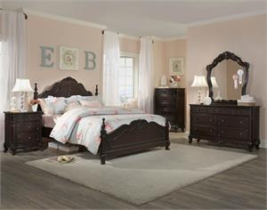 Cinderella Collection Dark Cherry Youth Bedroom