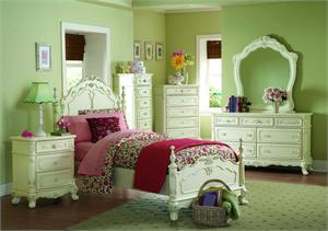 Cinderella Collection Youth Bedroom,1386 homelegance,ecru painted finish