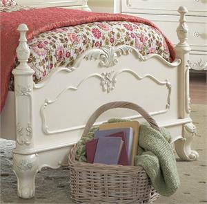 Bed ( footboard) Cinderella Collection,homelegance, ecru finish