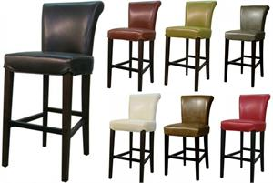 Bentley Leather Bar Stool by New Pacific Direct item 1485