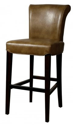 Turned back bentley Leather bar/counter stool molasses color